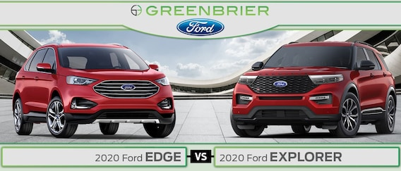 2020 Ford Edge Vs 2020 Ford Explorer Msrp Cargo Space