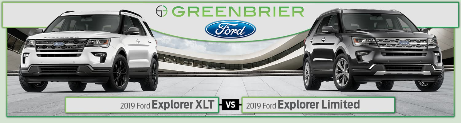 2019 Ford Explorer XLT vs. Limited