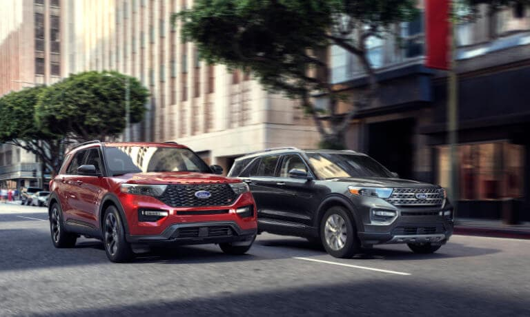2020 Ford Explorer side by side exterior view