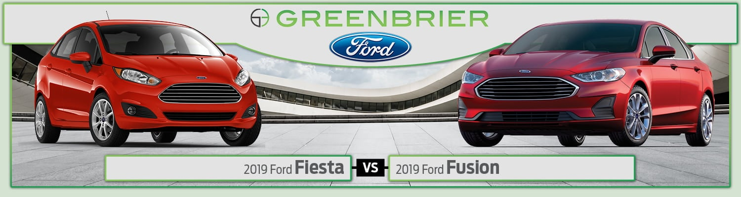 2019 Ford Fiesta vs. 2019 Ford Fusion