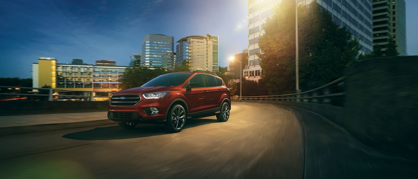 2019 Ford Escape driving at night