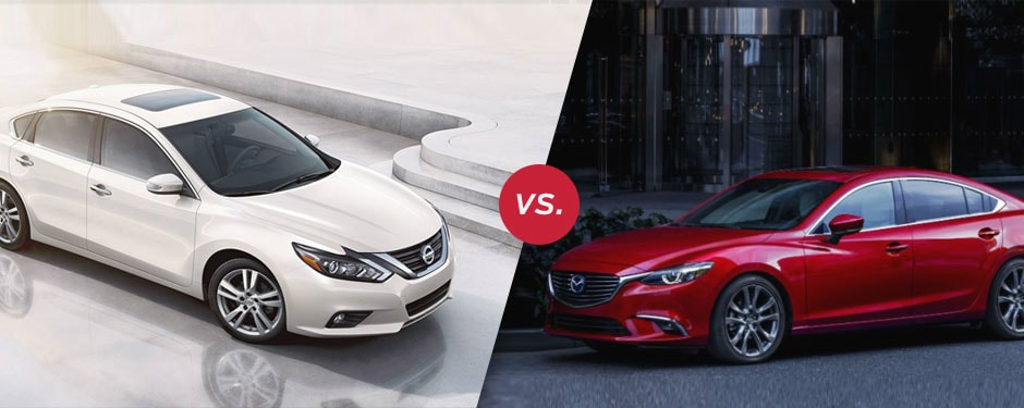 Comparison: 2018 Nissan Altima vs 2017 Mazda 6