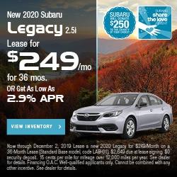 New 2020 Subaru Legacy 2.5i