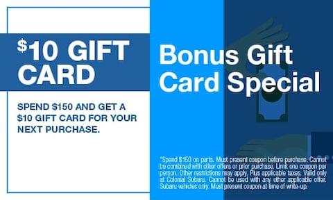 Bonus Gift Card Special