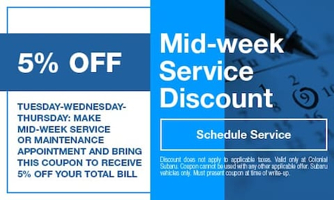 Mid-Week Service Discount