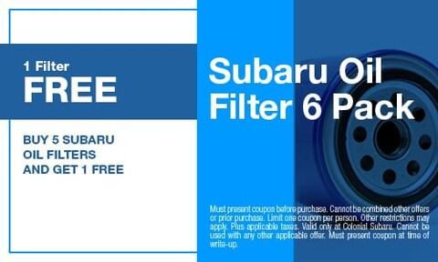 Subaru Oil Filter 6 Pack