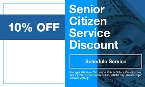 Senior Citizen Service Discount
