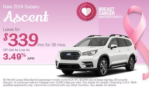 Lease a new 2019 Ascent for $339/Month