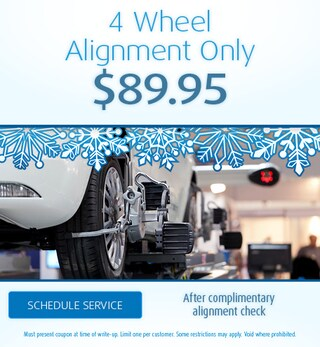 4 Wheel Alignment Only $89.95