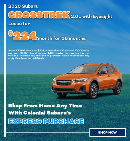 2020 Subaru Crosstrek Lease For