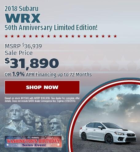 2018 WRX 50th Edition