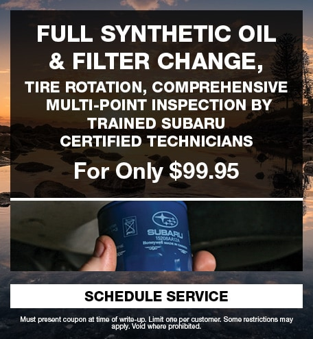 Full Synthetic Oil & Filter change, tire rotation, multi-point inspection