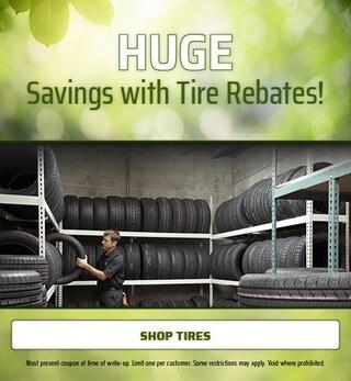 HUGE Savings with Tire Rebates!