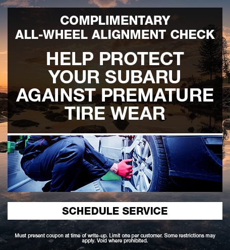 Complimentary All-Wheel Alignment Check