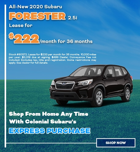 2020 Subaru Forester Lease For