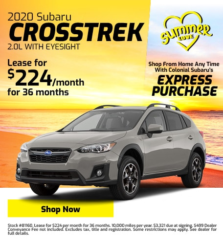 New 2020 Subaru Crosstrek Lease