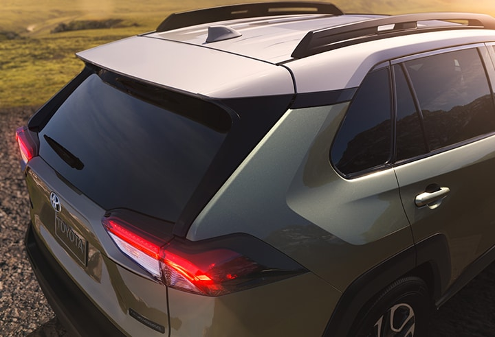 View of the tailgate of the 2019 RAV4