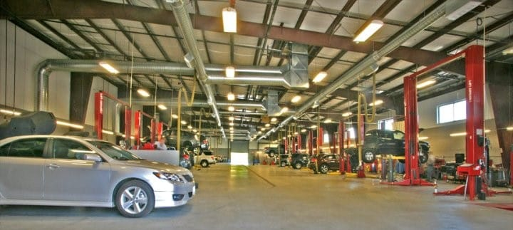 the Auto Service bay at Colonial Toyota