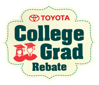 Toyota College Grad New Car Rebate Logo