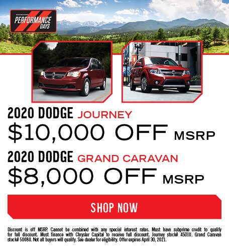 2020 Dodge Grand Caravan & 2020 Dodge Journey models