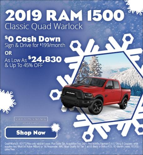 January 2019 Ram 1500 Classic Quad Warlock