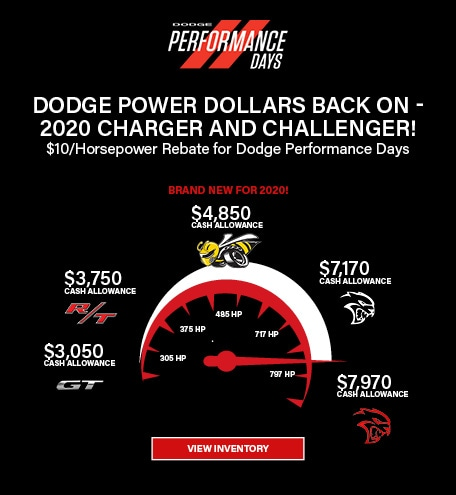 Dodge Power Dollars - 2020 Dodge Challenger and Charger