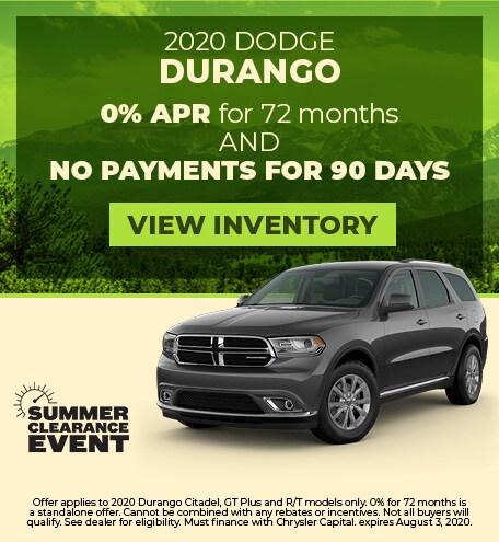 July 2020 Dodge Durango
