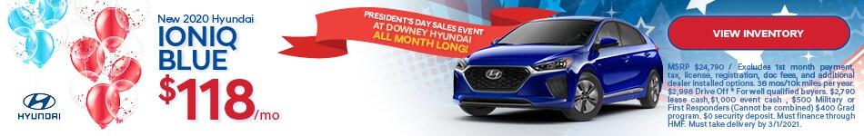 New 2020 Hyundai Ioniq Blue