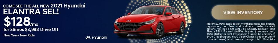 Come see the ALL New 2021 Hyundai Elantra SEL!