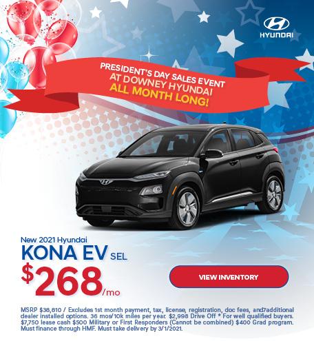 New 2021 Hyundai Kona EV SEL