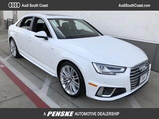 New 2019 Audi A4 2.0T Prestige Sedan for Sale in Santa Ana, CA