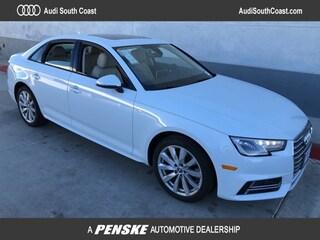 New 2018 Audi A4 2.0T Tech ultra Premium Sedan Santa Ana CA