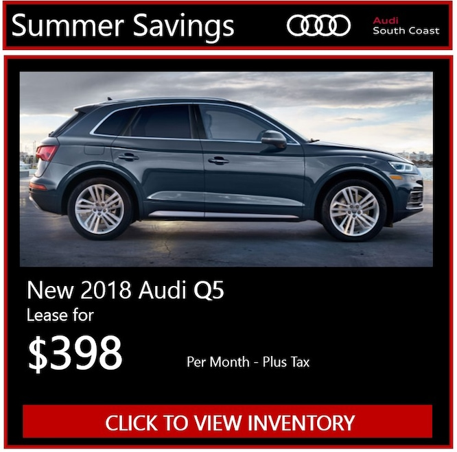 New Audi Manager's Specials & Deals In Santa Ana, CA