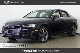 Certified Pre-Owned 2018 Audi A4 2.0T Sedan for Sale in Santa Ana, CA