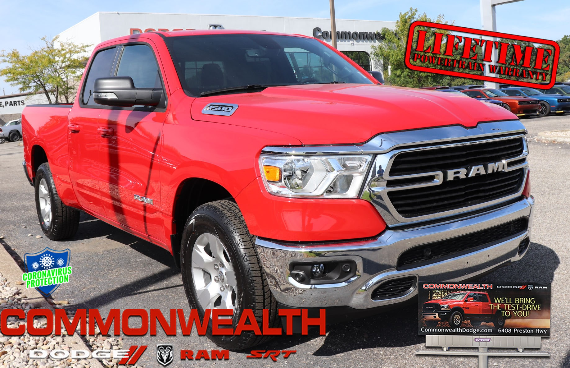 New 2021 Ram 1500 Big Horn Quad Cab 4x2 6 4 Box For Sale Louisville Ky