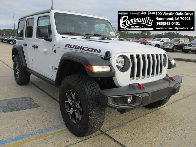 New 2019 Jeep Wrangler UNLIMITED RUBICON 4X4 Sport Utility 1C4HJXFN4KW519239 in Hammond, LA