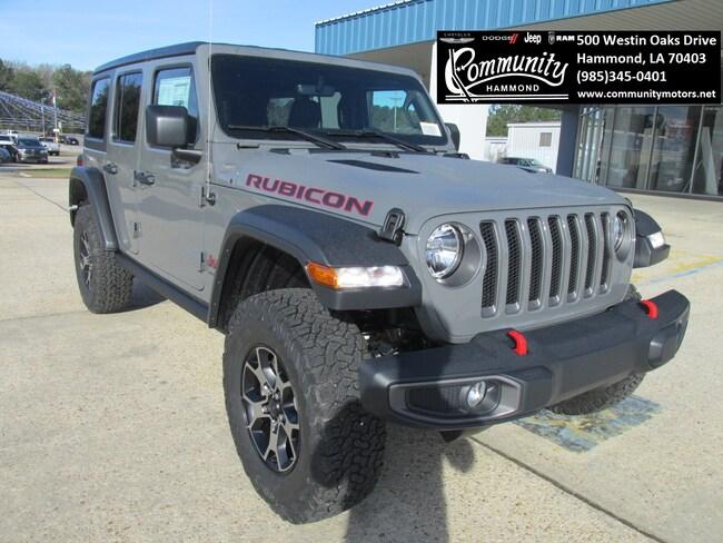 New 2019 Jeep Wrangler UNLIMITED RUBICON 4X4 Sport Utility 1C4HJXFN1KW525452 in Hammond, LA