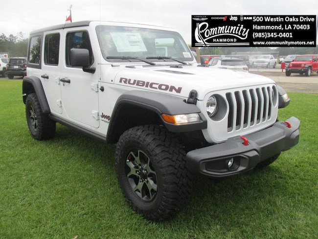 New 2019 Jeep Wrangler UNLIMITED RUBICON 4X4 Sport Utility 1C4HJXFG9KW568048 in Hammond, LA