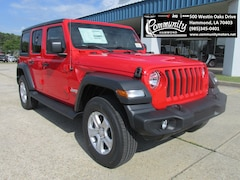 New 2018 Jeep Wrangler UNLIMITED SPORT S 4X4 Sport Utility 1C4HJXDG2JW177261 for sale in Hammond, LA at Community Motors