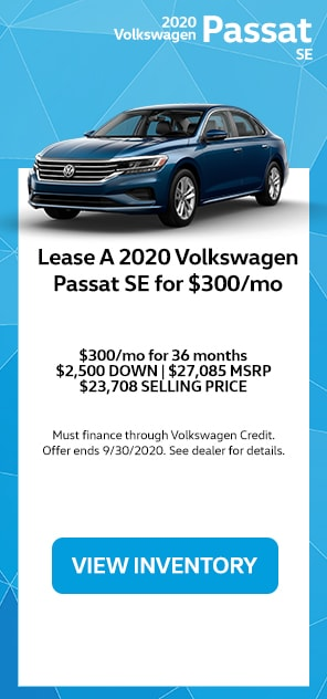Lease A 2020 Volkswagen Passat SE For $300/mo