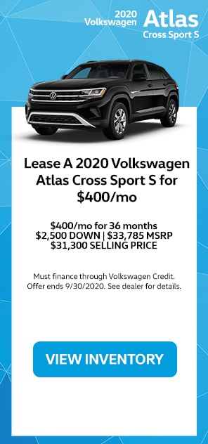 Lease A 2020 Volkswagen Atlas Cross Sport S For $400/mo