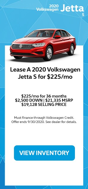 Lease A 2020 Volkswagen Jetta S For $225/mo