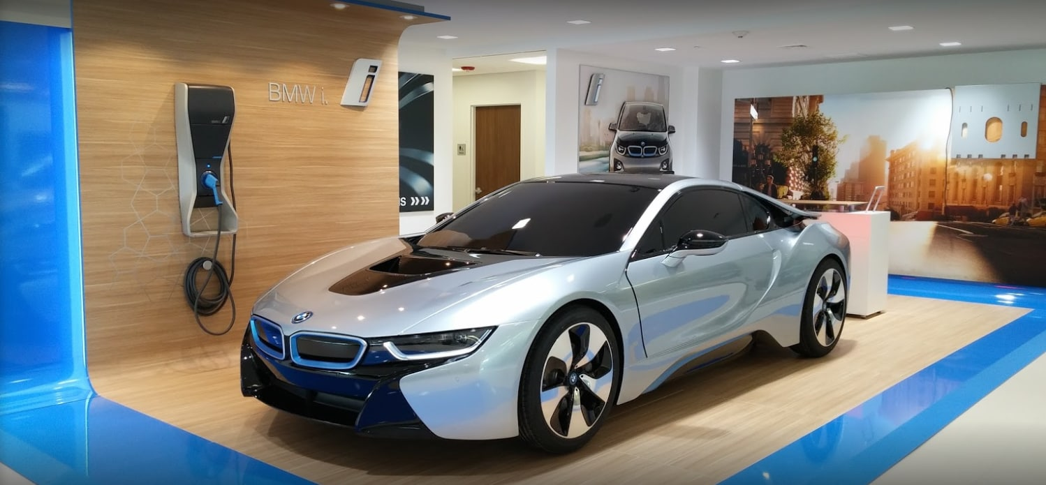 Competition BMW I8 In Showroom