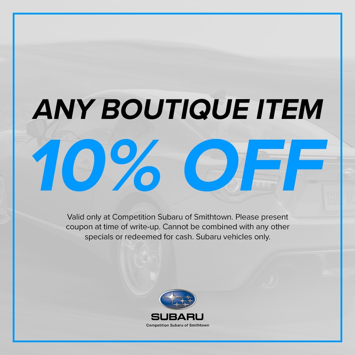 10% Off any Boutique Item