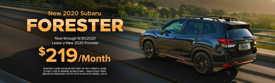 New 2020 Subaru Forester Lease Offer