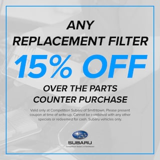 15% OFF any Replacement Filter
