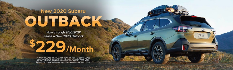 New 2020 Subaru Outback Lease Offer
