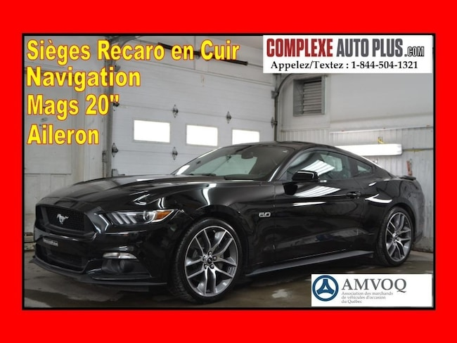 2015 Ford Mustang GT 5.0 V8 Premium *Recaro Cuir, Mags 20 po, GPS Coupe