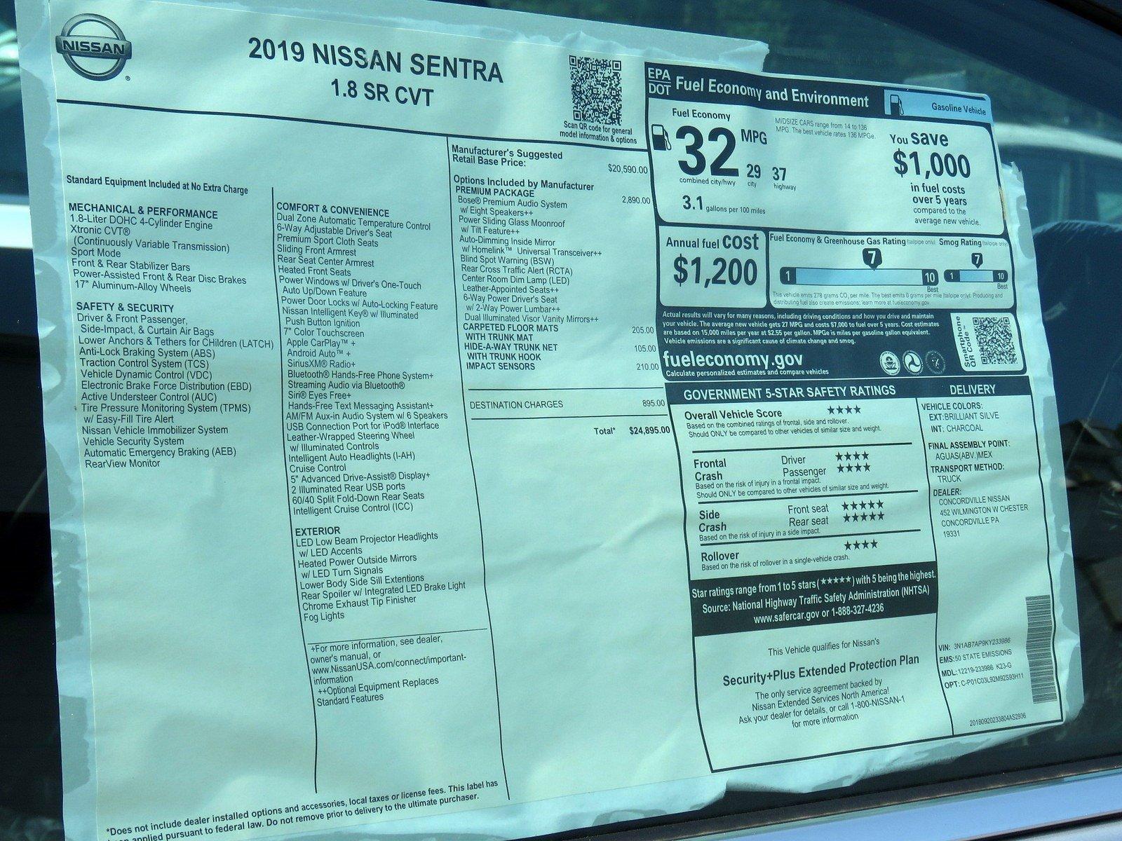 New 2019 Nissan Sentra SR For Sale | Concordville PA | Near