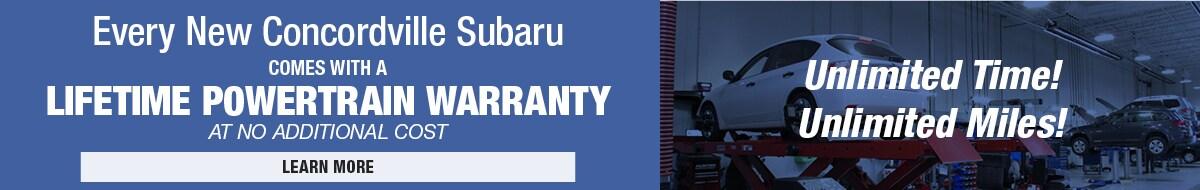Lifetime Powertrain Warranty | Concordville Subaru